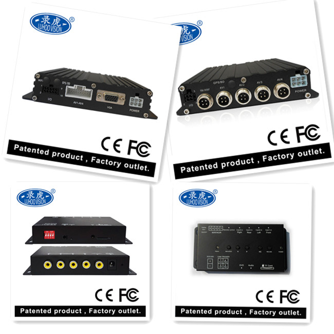 8V ~ 36V DC Vehicle Mobile DVR With Wifi 4CH AV Inputs Vehicle Surveillance System