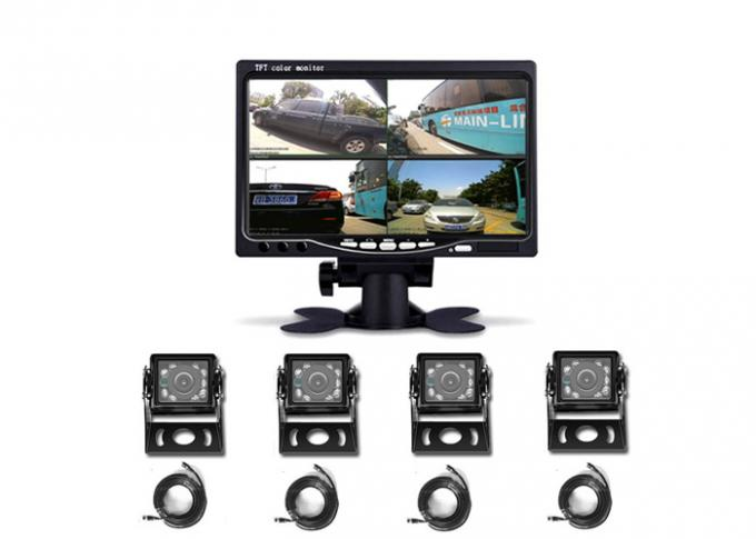 DC12V 24V 4 Channel Car TFT LCD Monitor 7 Inch 4CH Split Quad LCD Screen Display