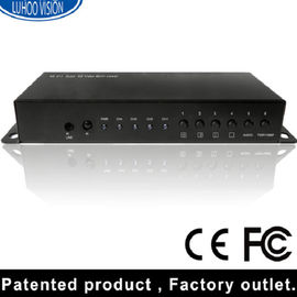 China Black Wireless HDMI Video Splitter 1080P 1.3a 4 Port Quad Multiviewer High Performance factory