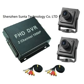 China Custom 2 Channel Mobile DVR , Mobile Digital Video Recorder 90° View Angle factory