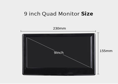 China 9 Inch Car TFT LCD Monitor Split Screen Quad 4 Channel Headrest RearView Display distributor